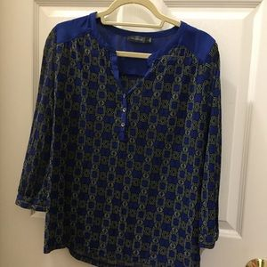 Royal Blue Printed Top
